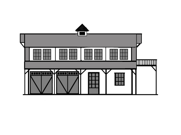 Barn Front Drawing
